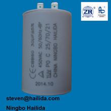 Motor running capacitor 30 uf 400 v para compresor de aire con CE