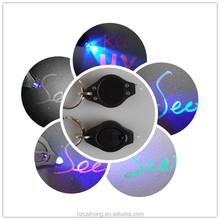 2015 Wholesale portable car key shaped uv led black light with key chain logo customized CH-9006