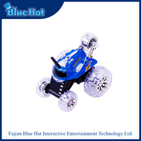 Hot selling blue rc stunt toy car 360 degrees