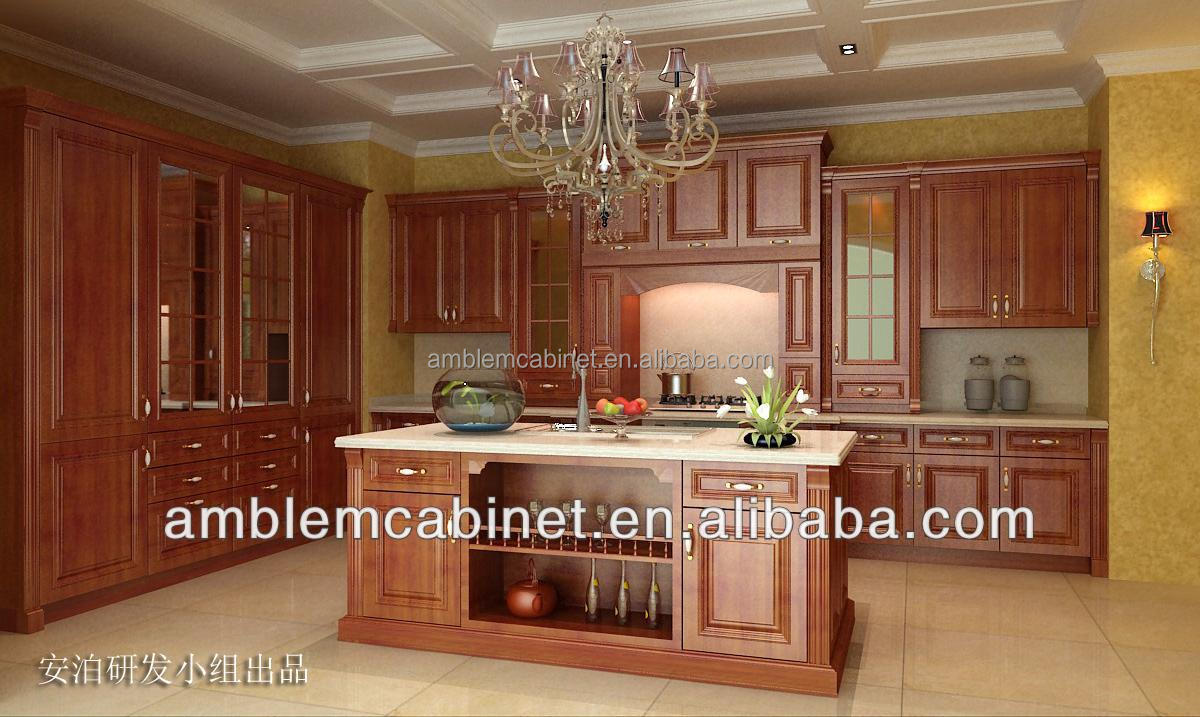 2014 new classic white solid wood kitchen cabinet buy for White solid wood kitchen cabinets