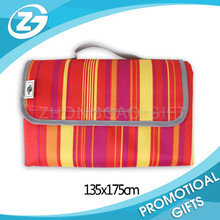 Outdoor Fashion Pattern 600D Wearproof Foldable Waterproof Beach Mat