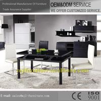 Fashionable new arrival four person dining table and chair