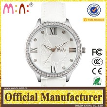 Beatiful ladies wristwatches as present white leather pocket & FOB watches mechanical