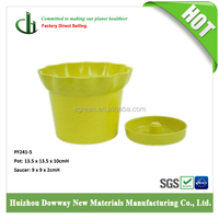 Biodegradable bamboo flower pots for indoor decorative