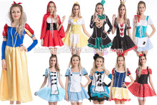 Sexy lingerie Halloween Women's Fancy Dre Party costume alice in wonderland mad hatter queen of heart snow white costumes Walso