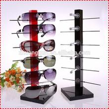 Multi colore acrilico occhiali da sole cremagliera con 6 livelli, supporto acrilico per gli occhiali