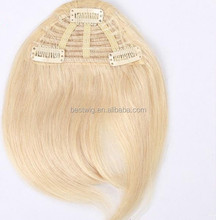 Clip in human hair bang with top quality,factory price remy hair clip on bangs