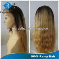 Stable Quality Factory Price Human Hair dark roots human hair blonde wigs