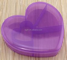heart shape lovely plastic case PS Clear Case