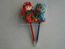 promotional cute doll novelty pens for kids