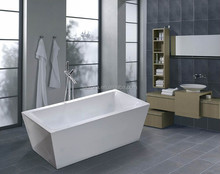 small square Bathtub Hot Tub with overflow