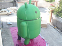 hot sale with free logo print inflatable Android models for advertising with free logo print