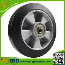 elastic black rubber mold on aluminium core wheels caster or castor
