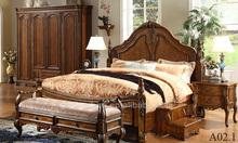 clásico muebles de dormitorio de madera caliente de la venta