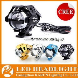 Hot-selling 3000LM 30W U5 motorcycle headlight bike lights led projector headlight bike