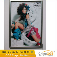 OEM service A1--A4 size aluminum frame LED quilting light box for ad display