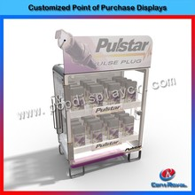 Hot new products for 2015 retail store 2-tier accessory display cabinet