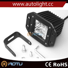High Power 18W auto led work light with ear for construction machine truck SUV