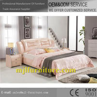 Design promotional leather twin soft bed