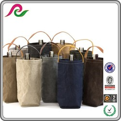 paper wine packing bag, washable bag for wine, durable bottle carrying bag