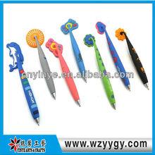 2015 custom advertising cheap soft pvc bendy promotional pen