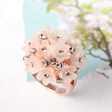 2015 New arrival fashion Korean full diamond flower ring for girlfriend gift 014
