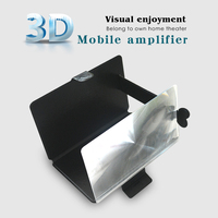 2015 NEWEST mobile phone stand, smartphone 3D magnifier , portable video magnifier with leather case