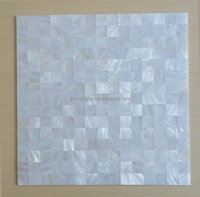 SJ-RM002 Pure White Seamless River Mother Of Pearl Mop Capiz Shell Mosaic Tile Sheet For Home Decoration