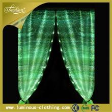 Luminoso de fibra óptica de cortinas de la cocina con cenefa ventana tela de la cortina