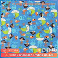 cartoon printing nylon spandex children swimwear fabric