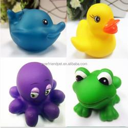 cute soft PVC Squirter sea animal,kids bath toys ,rubber floating animal
