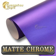 Free Shipping Matte Vinyl Film Royal Purple Adhesive Styling Wrapping 1.52*20m