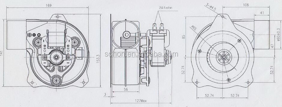 china electric radial fan gas blower with venturi for boiler