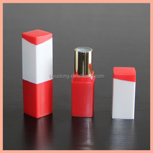 LS0234 Red plus white or multipul color plastic lipstick tube cosmetic packaging