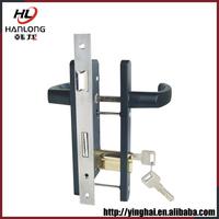 Zinc alloy oval closet sliding door lock for wooden doors