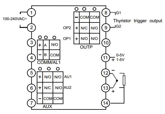 universal input yudian pid temperature timer controller