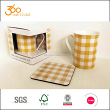 10oz mug and coaster set in gift box, mug set