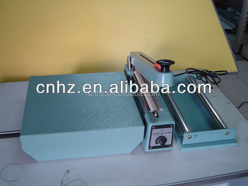 plastic bag hand sealer with cutter with pallet with tray