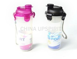 BPA FREE Plastic sport water bottle with filter, drinking bottle