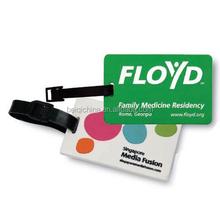 Eco-friendly Custom pvc or plastic Luggage Tag for Traveling
