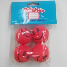 wholesale fashion cool Smile pet play toy bouncing ball