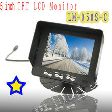 5inch TFT LCD car reverse monitor/ foldable car monitor (LM-050S-C)