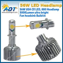 Small Size 5000lm 880 led headlight / Auto LED 880 conversion kits