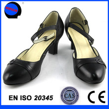 Quality China womens leather office shoes/office lady leather dress pumps