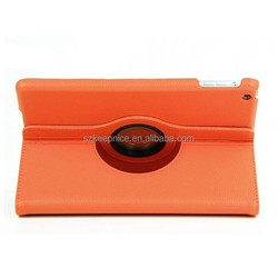 360 degree rotation tablet leather cover case for iPad 5/iPad 6