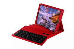 Detachable Wireless Bluetooth ABS Keyboard Litchi Grain PU Leather Case Tablet Stand for iPad Pro