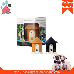 Outdoor ultrasonic dog training without collar
