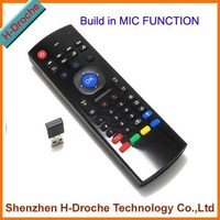 with MIC function 2.4G Wireless Keyboard, Air Mouse for Smart TV, China Supplier 2.4g mini fly air gyro mouse wireless keyboard