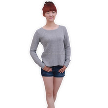 Italian computer knitted elegant girl cashmere sweater
