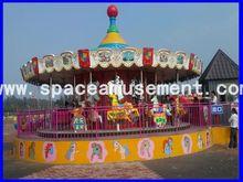 el espacio de atracciones caliente venta de parque de atracciones 16 asientos carrusel de caballos